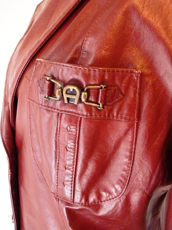 Vintage Etienne Aigner leather blazer #etsy #pinterest #fall