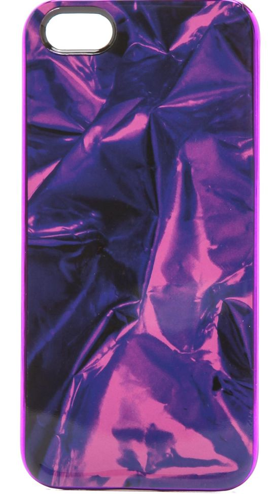Metal Wrapper iPhone 5 Case on Wantering #womens #metallic #iphone5case #purple #fashion #love #wantering