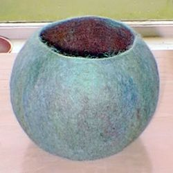 Wet Felted Vessel: handmade gift guide