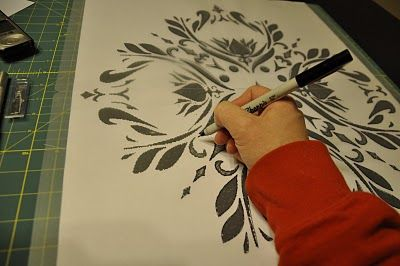 All Things Thrifty Home Accessories and Decor: Tutorial: Making a Stencil