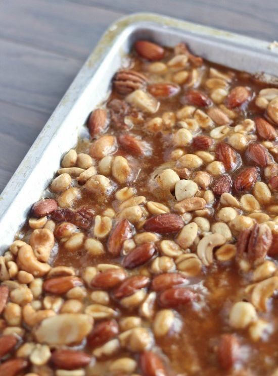 These homemade salted nut bars look amazing.