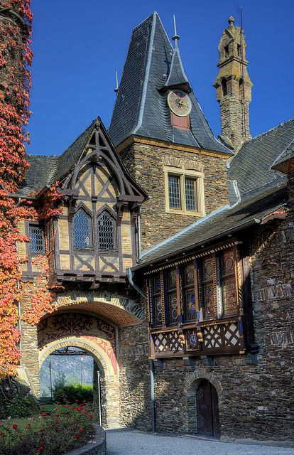 The Reichsburg (Imperial Castle) in Cochem, Germany.