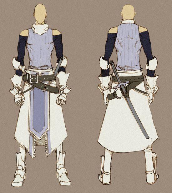White Swordman - concept by MizaelTengu.devia... on @deviantART