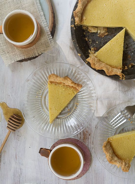 Buttermilk Chamomile Pie // www.acozykitchen.com