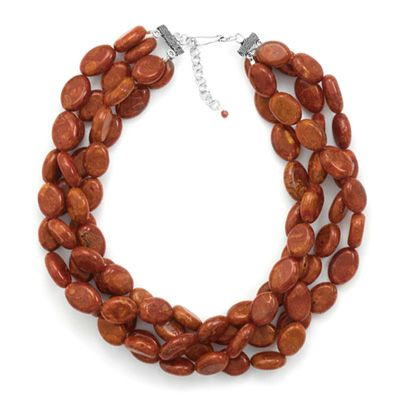 Red Sponge Coral Necklace: Love for the end of summer into fall!