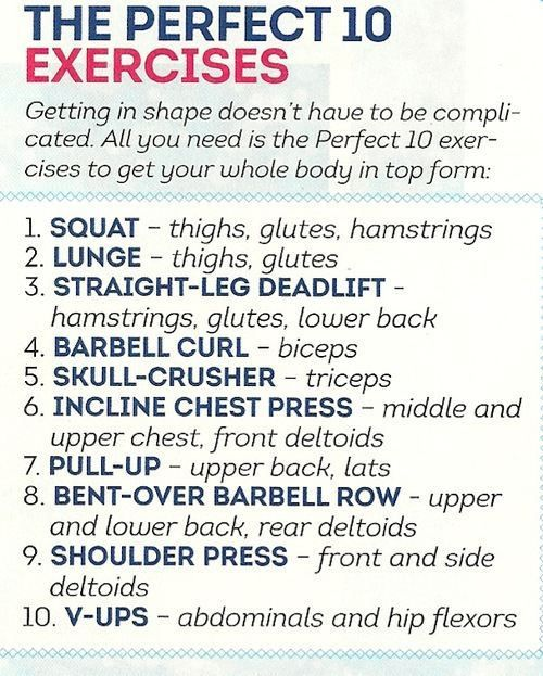 Perfect 10 Exercises