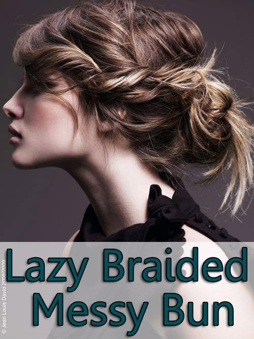Lazy Braided Messy Bun