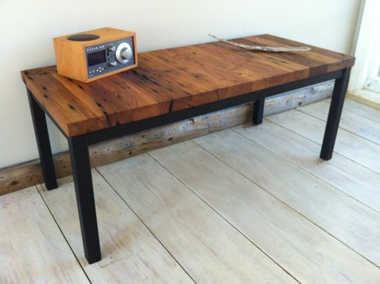 Modern industrial coffee table featuring reclaimed by scottcassin, $335.00