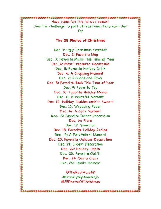 25 Days of Christmas #instagram Challenge