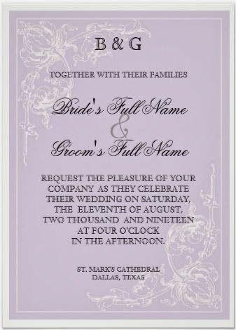 Lavender Wedding Invitation - Australian Wedding Ideas