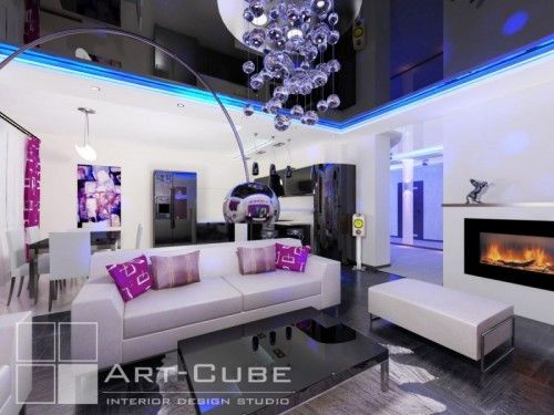 Modern Apartment Design With Creative Decorative Lights