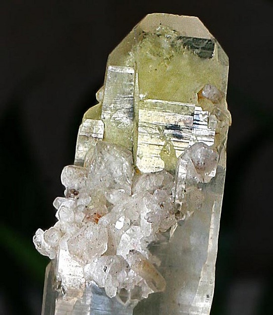 Ingrown Crystals & Sulfur Castled termination Lemurian Quartz