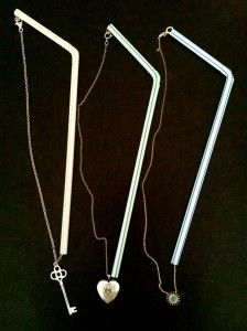 Travel Tips:  Use a drinking straw to keep your necklaces untangled when traveling.