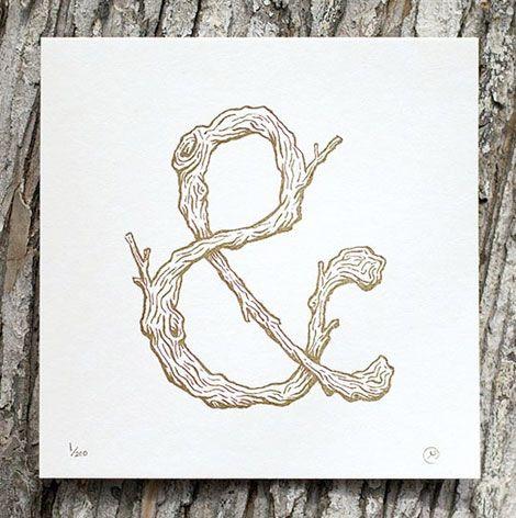 hmm... a little bit my style... wood grain lettering...love.