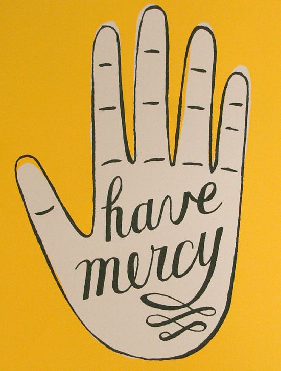 screenprinted poster have mercy hand by JordanGraceOwens on Etsy, $25.00