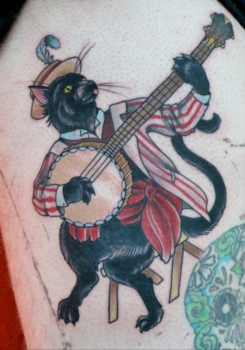 and old timey cats with banjos! yes