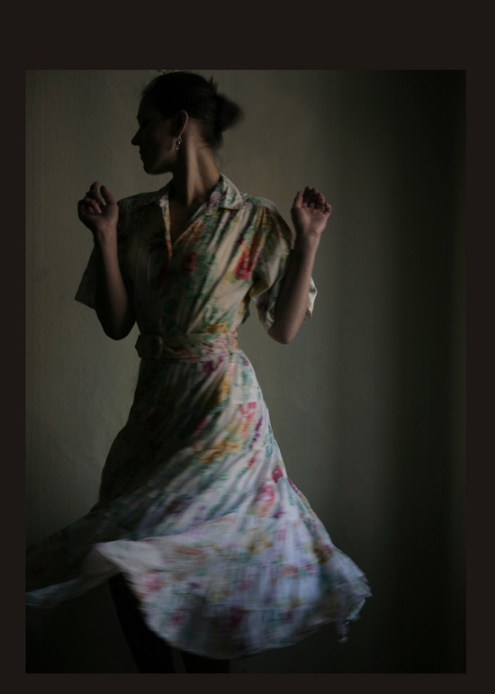 A floral dress, ready for twirls.