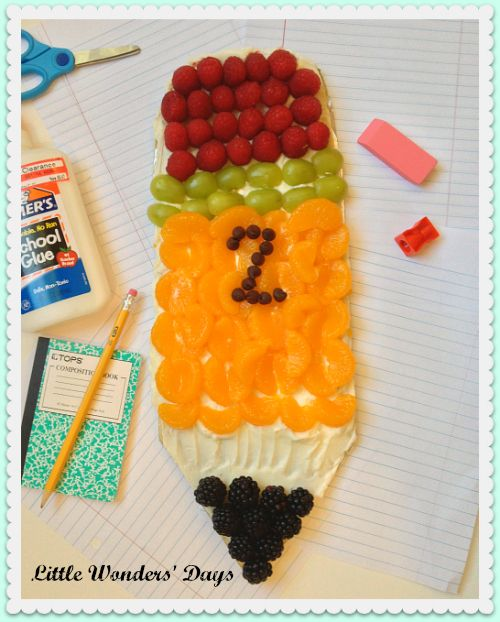 Pencil Shaped Fruit Pizza
