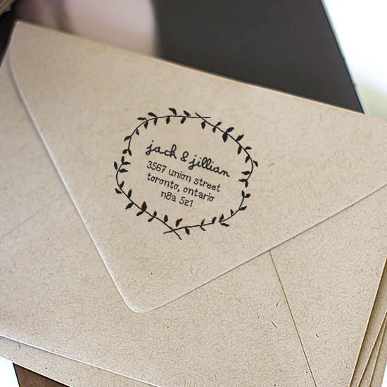 Custom Address Stamp, Wood Handle Rubber Stamp, iStamp, Calligraphy Stamp, Personalized Gift - a1206. $24.95, via Etsy.