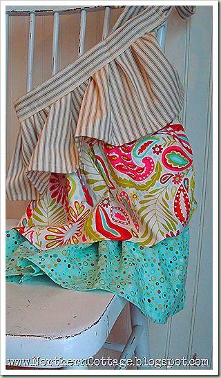 Ruffled apron..fast..easy..& cute