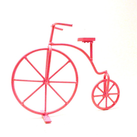 metal bicycle, vintage, pink, bicycle frame, mod decor, home accessories, bike, home decor, french, pop art, pretty pink, hipster.