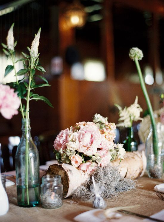 Lots of rustic charm at this wedding / Photography by ryanrayphoto.com, Design & Coordination by lavenderjoyweddin..., Floral Design by bowsandarrowsdelu...