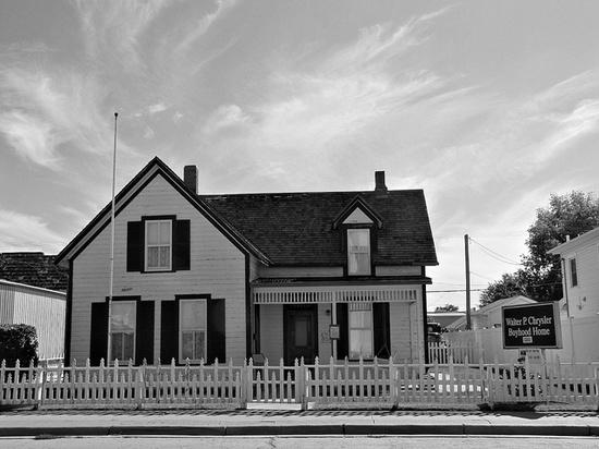 Walter Chrysler -      His boyhood home in Ellis, Kansas