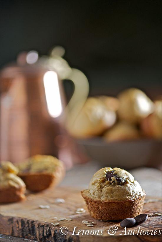 Peanut Butter-Chocolate Oat Muffins