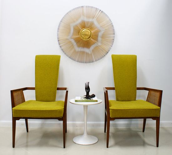 1950's Danish Modern High Back Chairs