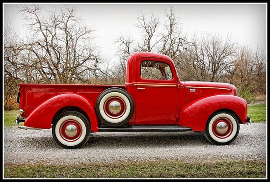 love this red truck!
