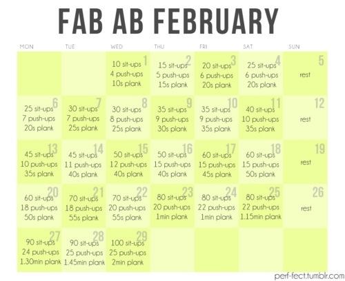 February Fab-Ab workout