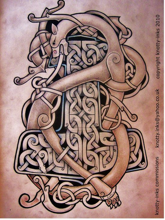 Celtic tattoo design  by ~knotty-inks  Designs & Interfaces / Tattoo Design ©2010-2013 ~knotty-inks  Pen and Pencil    knotty-inks.devia...