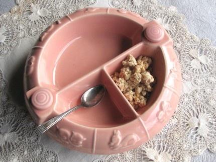 vintage baby food dish