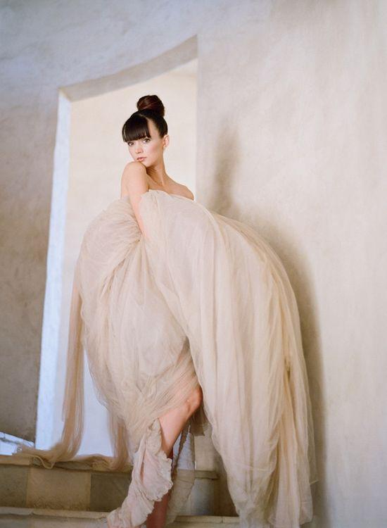 Neutral wedding dress