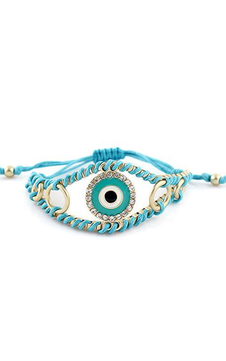 Blue Gold Diamond Eye Bracelet