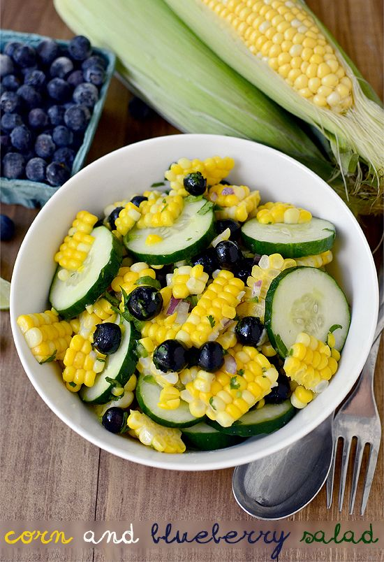 Corn and Blueberry Salad is a perfect summer side. #BHGSummer