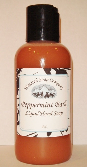 Peppermint Bark Handmade Liquid Soap  LIMITED - fragranced with the amazing scent of chocolate and peppermint...smells like the Holidays!!!!
