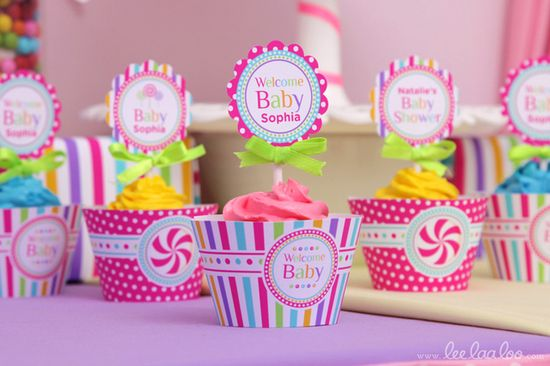 Cupcakes at a Candyland Party See more party ideas at CatchMyParty.com. #candyland