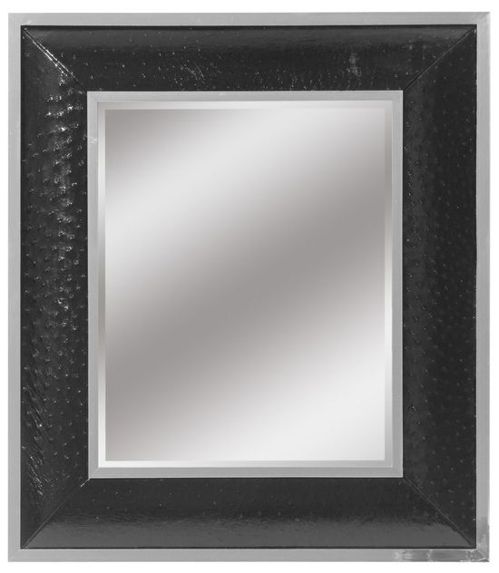 LUXE Black Ostrich Leather Mirror Courtesy of InStyle-Decor.com Beverly Hills Inspiring & supporting Hollywood interior design professionals and fans, sharing beautiful luxe home decor inspirations, trending 1st in Hollywood Repin, Share & Enjoy