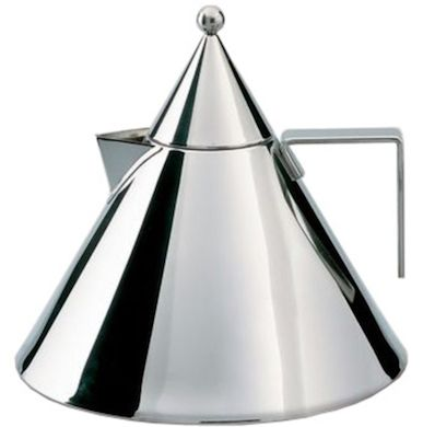 alessi il conico kettle - designed by aldo rossi, 1986, mirror polished stainless steel