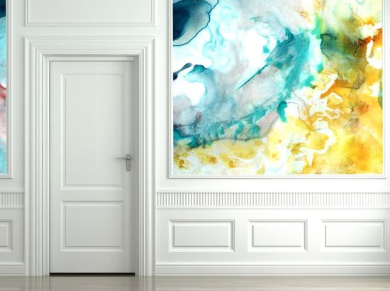 Water Color Walls. WHOA. available at Black Crow Studios. interesting. This would be stunning for the walls at an entryway.
