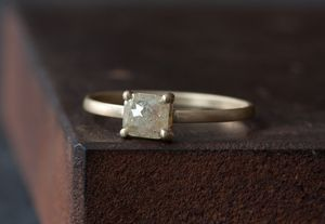 Conflict-free diamond ring by Alexis Russell.