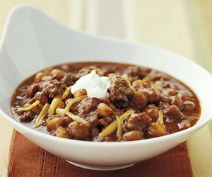 Slow cooker chili, maybe no beans?