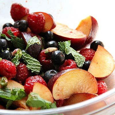Red and Black Fruit Salad
