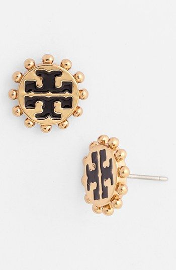 Tory Burch 'Winslow' Logo Stud Earrings available at #Nordstrom