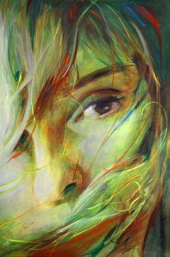 Saatchi Online Artist Moussin Irjan; Painting, What feels a woman? #art