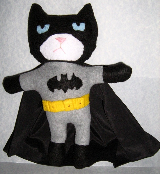 Grumpy Cat Batman Handmade Plushie