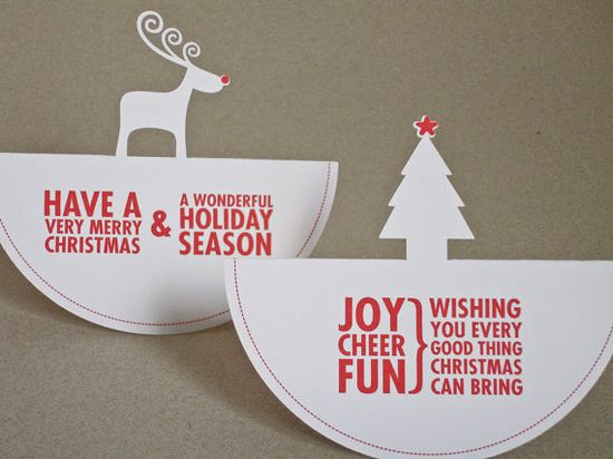Cut out Christmas Cards.