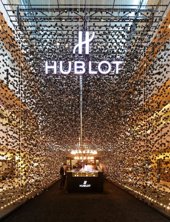 Hublot pop-up store in the Paragon Shopping Mall (Orchard Road), Singapore.
