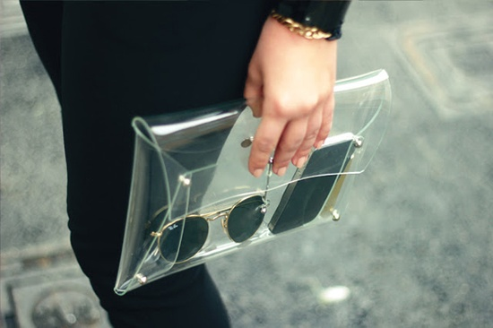 See through clutch.